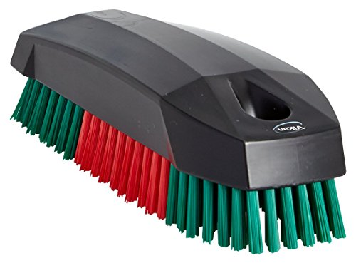 Vikan Nagelbürste hart, kräftige Handwaschbürste für Handwerk und Werkstätten, max. 100°C,115x45 mm