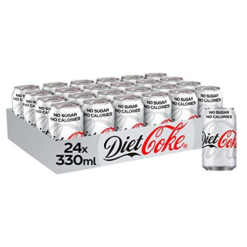 Diet Coke Fizzy Drinks 24 x 330ml Cans