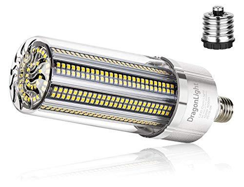 100W Superhelle Mais Licht LED Glühbirne(Ersetzt 700Watt) - E27 Edison LED Lampe mit E40 Adapter - 5000K Kaltweiß 12000 Lumens für Großes Gebiet Beleuchtung - Garage Lagerhaus Werkstatt Fabrik Hof