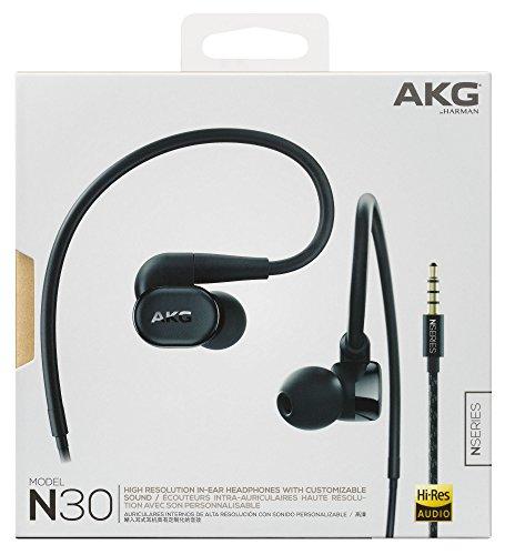 AKGN30イヤホンカナル型/ハイレゾ対応/ケーブル着脱式ブラックAKGN30BLK【国内正規品】