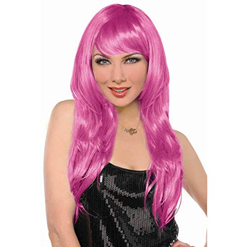 amscan Perruque Glamour Rose