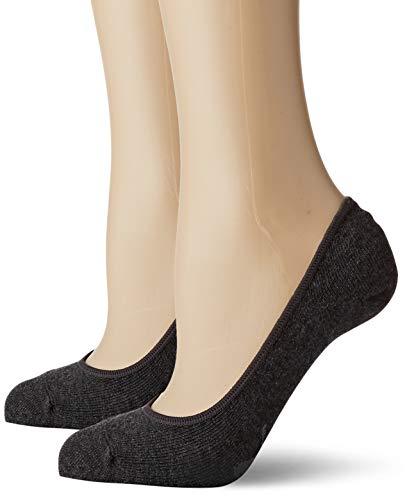PUMA Damen Women Footie 2p Sneakersocken, Grau (Anthracite 201), 39/42 (Herstellergröße: 039) (2er Pack)