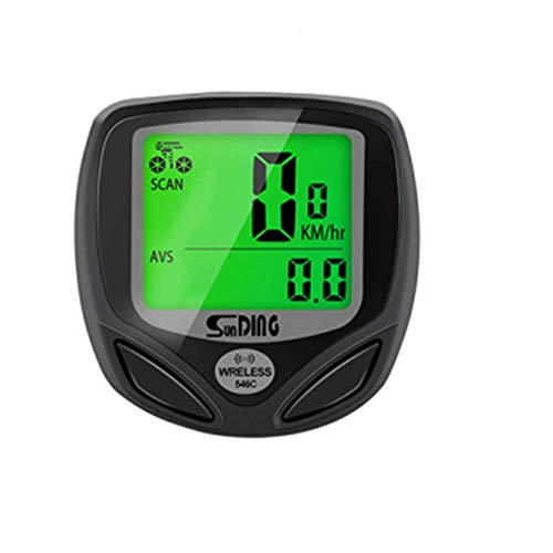 SLKIJDHFB Cuentakilómetros Bicicleta, Velocímetro Bicicleta Inalámbrico 16 Funciones, Ciclocomputador con Impermeable LCD...