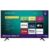 Hisense 50-Inch Class R6090G Roku 4K UHD Smart TV with Alexa Compatibility (50R6090G, 2020 Model) (Renewed)