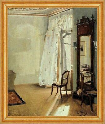 Kunstdruck The Balcony Room Adolph Menzel Zimmer Vorhang Balkon Stuhl B A3 00220 Gerahmt