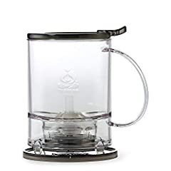 An efficient simple and clean way to steep tea Add tea and water at the correct temperature then put the tea maker on your faavorite mug The patented drain mechanism will strain the tea into your cup and keep the leaves in the tea maker Four piece co...