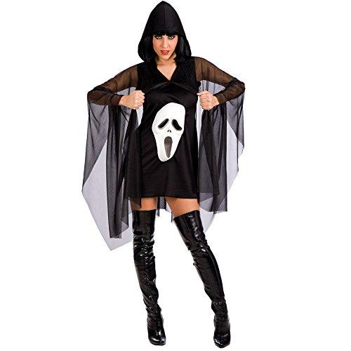 Carnival Toys 82096 - kostuum jurk met cape- scream, maat M/L