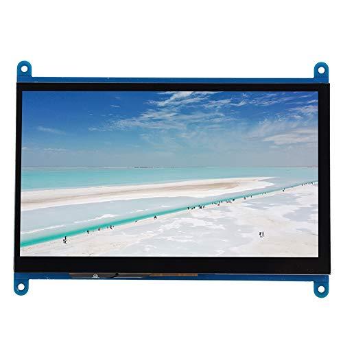 Pantalla de visualización HDMI para Raspberry Pi, Pantalla de visualización de Control táctil de 7 Pulgadas, Monitor de 1024 x 600 con Interruptor de luz de Fondo Fuente de alimentación USB