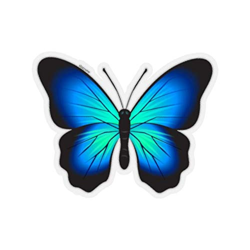 Cool Sticker For Cars, Trucks, Water Bottle, Fridge, Laptops Blue Butterfly Stickers (3 Pcs/Pack)