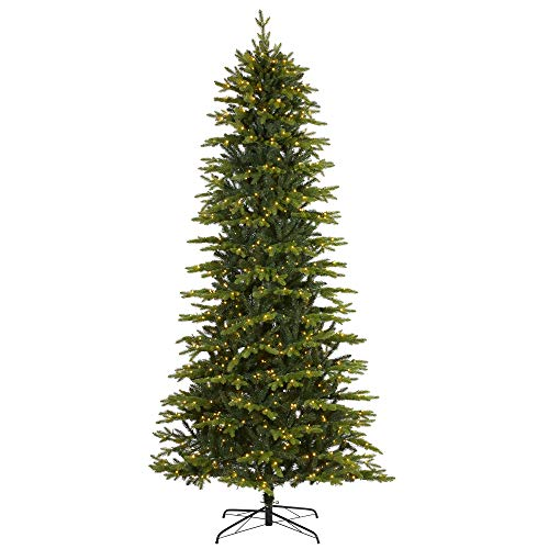 """Nearly Natural 9ft. Belgium Fir """"Natural Look"""" Artificial Christmas Tree with 800 Clear LED Lights"""