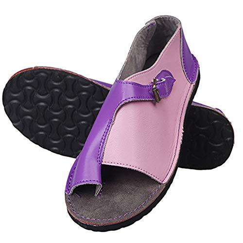 Sandalias 2020 New Correctoras Mujeres Zapatos Ortopédicos Juanete Corrector Cómoda Plataforma Cuña Casuales De Las Señoras del Dedo Gordo del,C,40