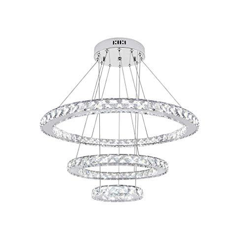 Lámpara de Araña, Lámparas de Techo, Candelabros Modernos, Colgante Led, Anillo 3 Araña Moderno Cristal