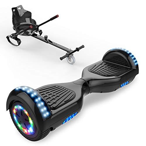 CITYSPORTS Balance Board 6,5 Zoll, Elektro Skateboard Smart Scooter 2x350W mit LED,E-Scooter + HOVERKART (Hover-01)