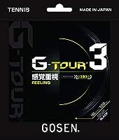 ゴーセン(GOSEN) 硬式テニスストリング G-TOUR3 16LGA(1.28mm) BK TSGT30