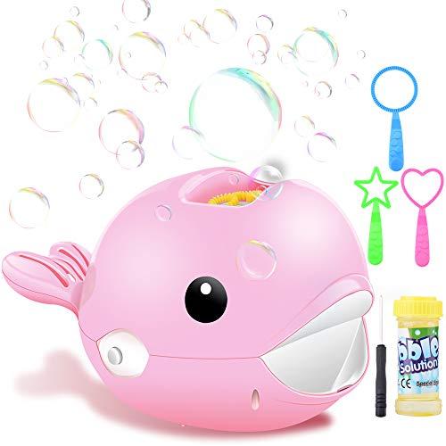 YDGJ Seifenblasenmaschine, Sprudelmaschine Spielzeug für Kinder mit 1 Flasche Flüssigkeit, Automatische Bubble Machine Maker mit 2000+ Bubbles Pro Minute Outdoor Geschenk für Garten Party Hochzeit