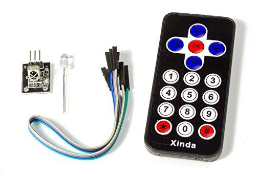 IR-Sensor Empfänger Modul Board mit Fernbedienung Black f. Arduino Raspberry Pi