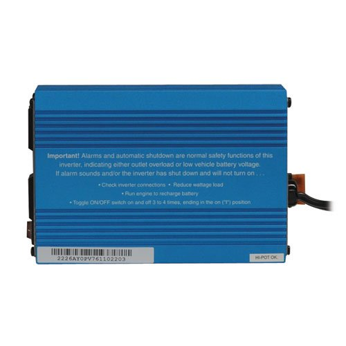 Tripp Lite 375W Car Power Inverter with 2 Outlets, Auto Inverter, Ultra Compact (PV375) Blue