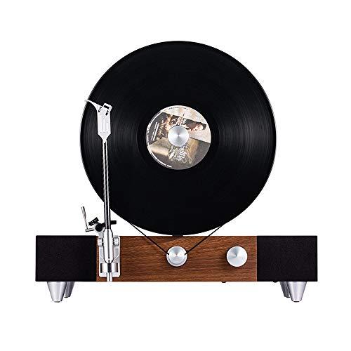 YEARYOWN Flotante Tocadiscos, Disco de Vinilo del Jugador, Vertical Altavoz Retro del Vinilo del Tocadiscos del fonógrafo, Reproductor de Vinilo Bluetooth