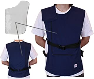 ペースメーカ?ICD電磁波防護服「MGワークベスト左胸用(カーキー)2年間品質保証