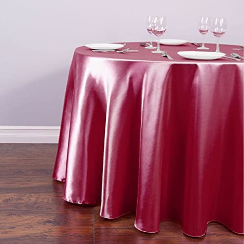 CiShop 1pcs Round Satin Limited Special Price Tablecloth Discount mail order Solid 22 Color for Christmas