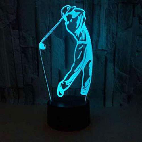 Ganjue 3D Illusion Lampe Golf Thema 3D Lampe Led Nachtlicht 7 Farbwechsel Touch Stimmung Lampe Weihnachtsgeschenk