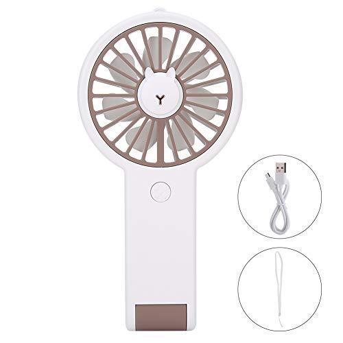 Ventilador, Ventilador de Escritorio de Tres Engranajes 3 Horas Tiempo de Carga Hecho de ABS y PP y componentes electrónicos 3.7V (Blanco)