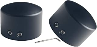 JGR Front Axle Nut Cover Axle Caps for Harley Softail Electra Road Glide Sportster (Black)
