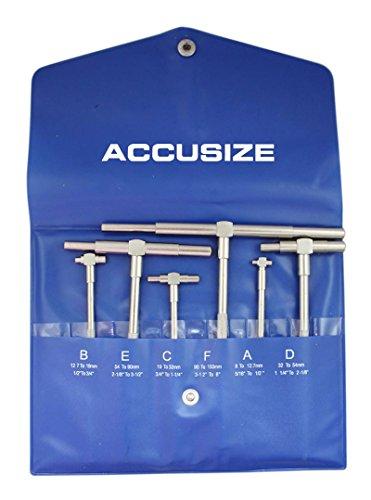 Accusize Industrial Tools 5/16 - 6, 6 Pc Telescoping Gage Set, Eg02-5011
