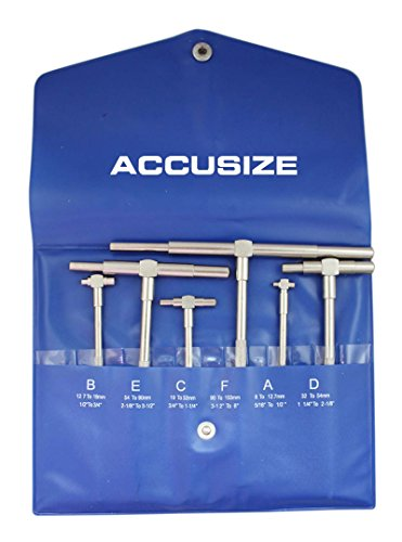 Accusize Industrial Tools 5/16'' - 6'', 6 Pc Telescoping Gage Set, Eg02-5011