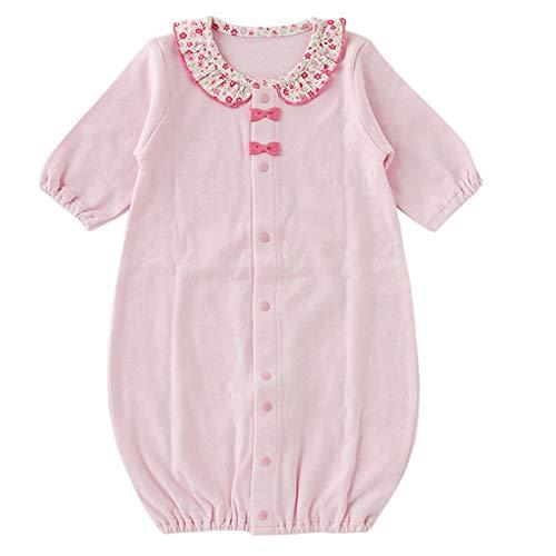 (チャックルベビー) chuckle BABY 小花柄襟 新生児ツーウェイオール ピンク P5178A-00-20