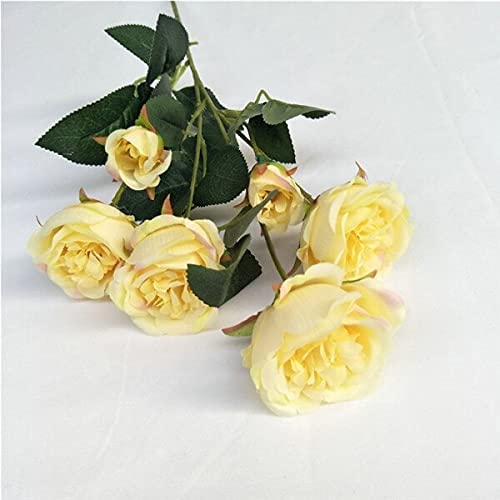 Artificial and Dried Flower 10Pcs Fake 6 Seasonal Wrap Introduction Stem Short Peony Heads 4 years warranty
