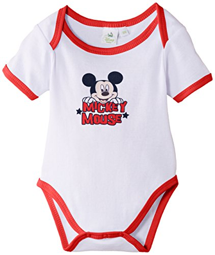 Disney Mickey Mouse Body, Rosso (Optic White/Red), 68 (Taglia Produttore:6 Months) Bimbo