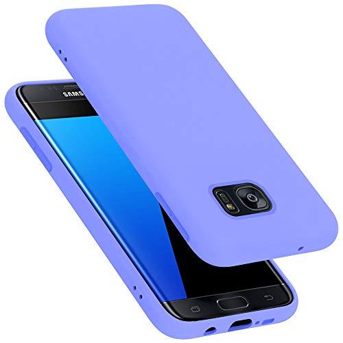 Cadorabo Custodia per Samsung Galaxy S7 Edge in Liquid Lila Chiaro - Morbida Cover Protettiva Sottile di Silicone TPU con Bordo Protezione - Ultra Slim Case Antiurto Gel Back Bumper Guscio