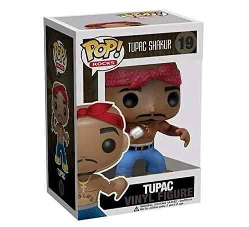 POP Tupac Shakur # 19 TUPAC figuras de juguete de acción figura de vinilo coleccionable modelo de muñeca con caja con caja