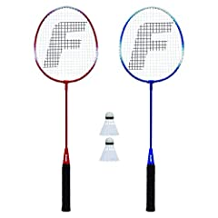 Perfect as replacements to your worn or broken racquet or for adding additional players to your set Includes (2) steel racquets and (2) A grade shuttlecocks Features smooth grip racquet handles Tempered steel frame construction Built for maximum fun