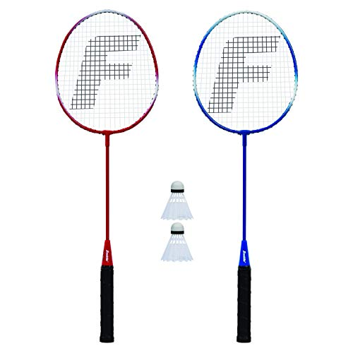 Franklin Sports 2 Player Badminton Racquet Replacement Set, One Size, Red, White, Blue