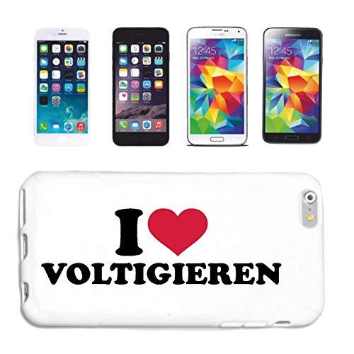 Reifen-Markt Funda compatible con HTC M8 I Love Voltigieren Doma Ciclismo Salto Ríptico Rígido Rígido Rígido Rígido Rígido Rígido Rígido Rígido Rígido R