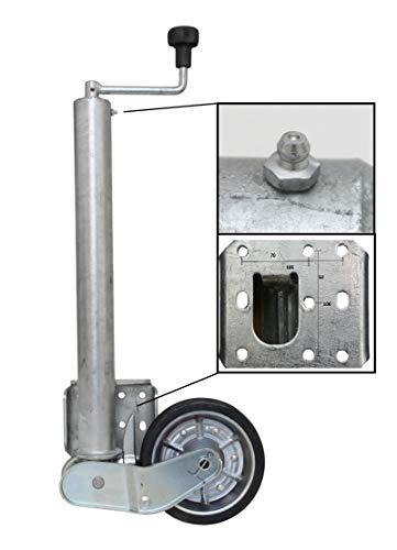 p4U Automatik Stützrad f. AL-KO Schwerlast 500 kg Lange Ausführung ca 620mm Rohrlänge PKW Anhänger Wohnanhänger Trailer Rad 200x50 mm Vergleichsnummer 1212382