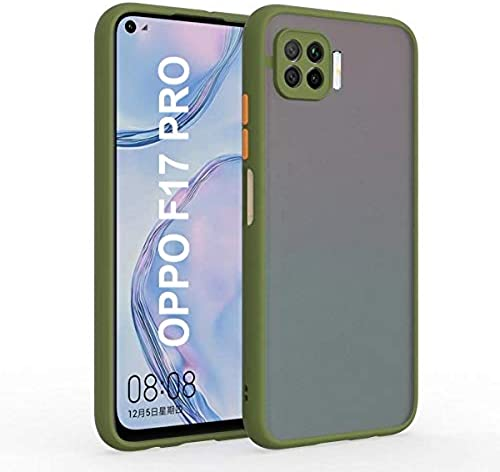 AE Mobile Accessories Back Cover for Oppo F17 Pro Smoke Translucent Shock Proof Smooth Rubberized Matte Hard Back Case Cover Olive
