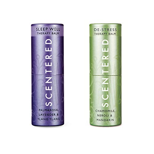Scentered - SLEEP WELL & DE STRESS - Aromatherapy Balm Duo Gift Set - Supports Bedtime Relaxation, Restful Sleep, Calmness & Stress Relief