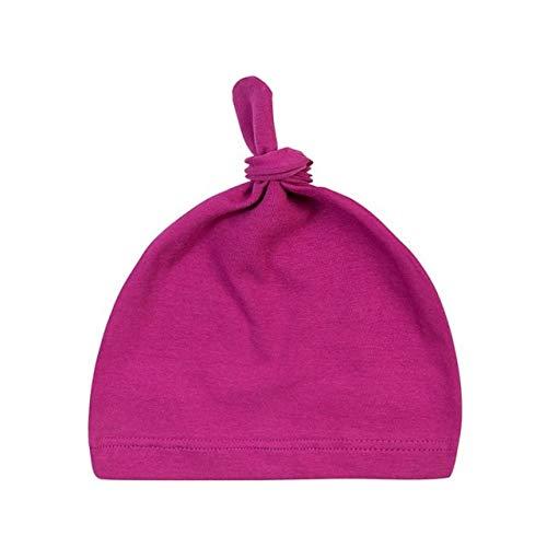 Sombrero de algodón con Nudo de bebé de 16 Colores, Gorros de Primavera otoño para niños pequeños, Gorro de Invierno para niñas, Gorro de Invierno cálido de Color sólido-M-One Size