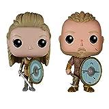 2 unids / Set Funko Vikings Ragnar Lothbrok Lagertha Vinilo Figura de acción Modelo Juguetes Regalos 10cm