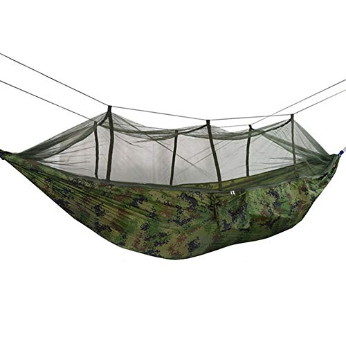 KITRION 260x140cm Double People Mosquito Hammock Bivouacking Garden Quiescence Hanging Bed with Carabiners Storage Bag Hammock (Color : Three Light Colors Without Remote)