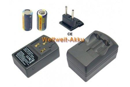 Ladegeräte+ 2 Stück Akkus mit 500mAh CR23, DL123, Ersatz für Chinon Auto GL-AF, Auto GL-S, Belami AF, Monami, Pocket Dual Zoom, Pocket Dual Zoom 70M, Pocket Dual Zoom AF, Pocket Dual-AFP, Pocket Dual-P