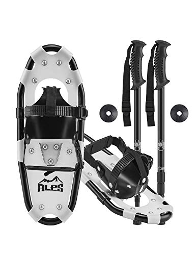 ALPS Light Weight Kids Snowshoes, Boys & Girls +Trekking Poles,Carrying Tote Bag 14'/17'/19'