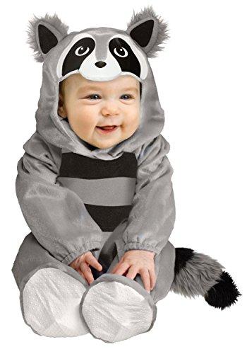 Fun World Baby Raccoon Costume 12/24 Months Gray