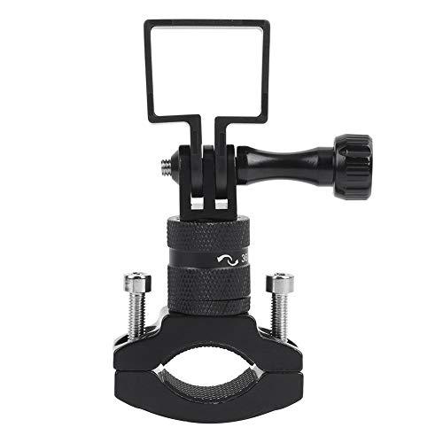Boquite Black Small Size Handlebar Bracket Easy to Store and Carry Motorbike Handlebar Bracket for Osmo Pocket ballhead Camera