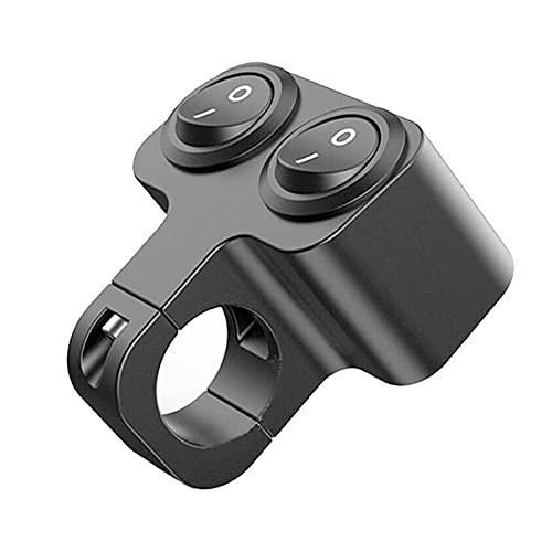 YYOMXXOM 1 UNID 12V 7/8'Interruptor de Control del Manillar Motocicleta Doble Control Faro Doble Flasher Spander Switch Reemplazo Accesorios