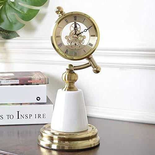 Magasin DAMAI Ornements De Décoration Minimaliste Moderne Artisanat Mobilier Créatif en Marbre Amélioration De L'habitat Horloge Pendule Continental Pièces Tourne-disques (12 * 28CM)