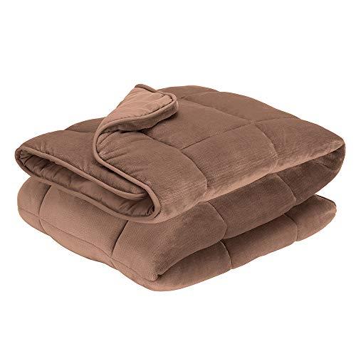 Pikolin Home - Edredón nórdico de fibra reversible bicolor marrón y marrón claro de 300 gr con terciopelo para invierno y habitaciones con temperaturas frías, cama de 150/160-240 x 220 cm